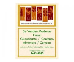 Venta de Almendro, Guanacaste, Cenizaro y Corteza