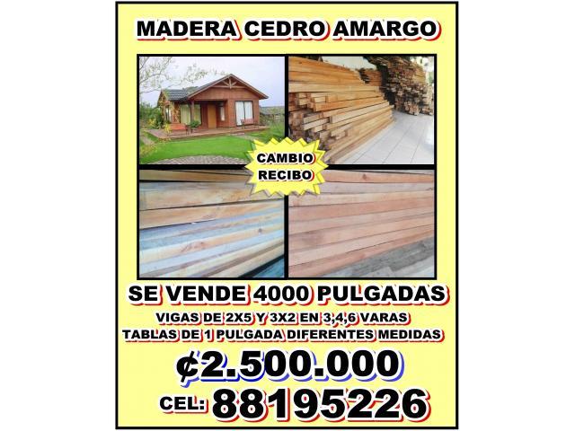 VENDO BARATO CEDRO AMARGO 4000